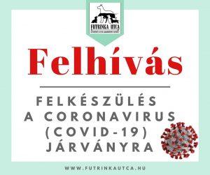 FELHÍVÁS - Felkészülés a coronavírus (COVID-19) járványra!